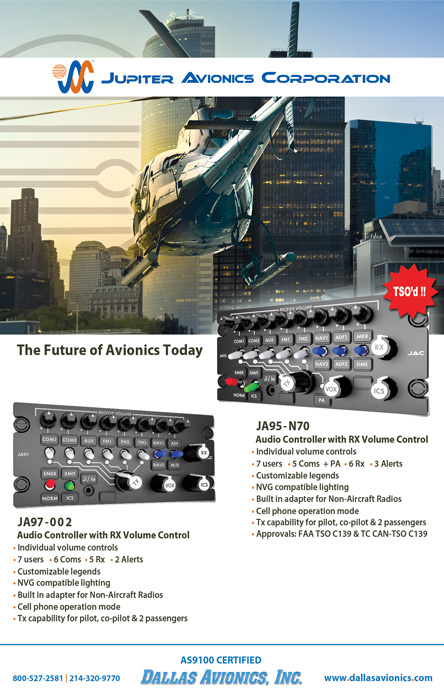 JA97-001 and JA95-N70 Audio Controller with RX Volume Control
