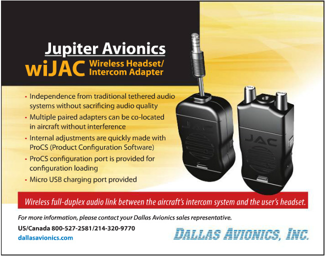 wiJAC wireless headset intercom adapter order from Dallas Avionics